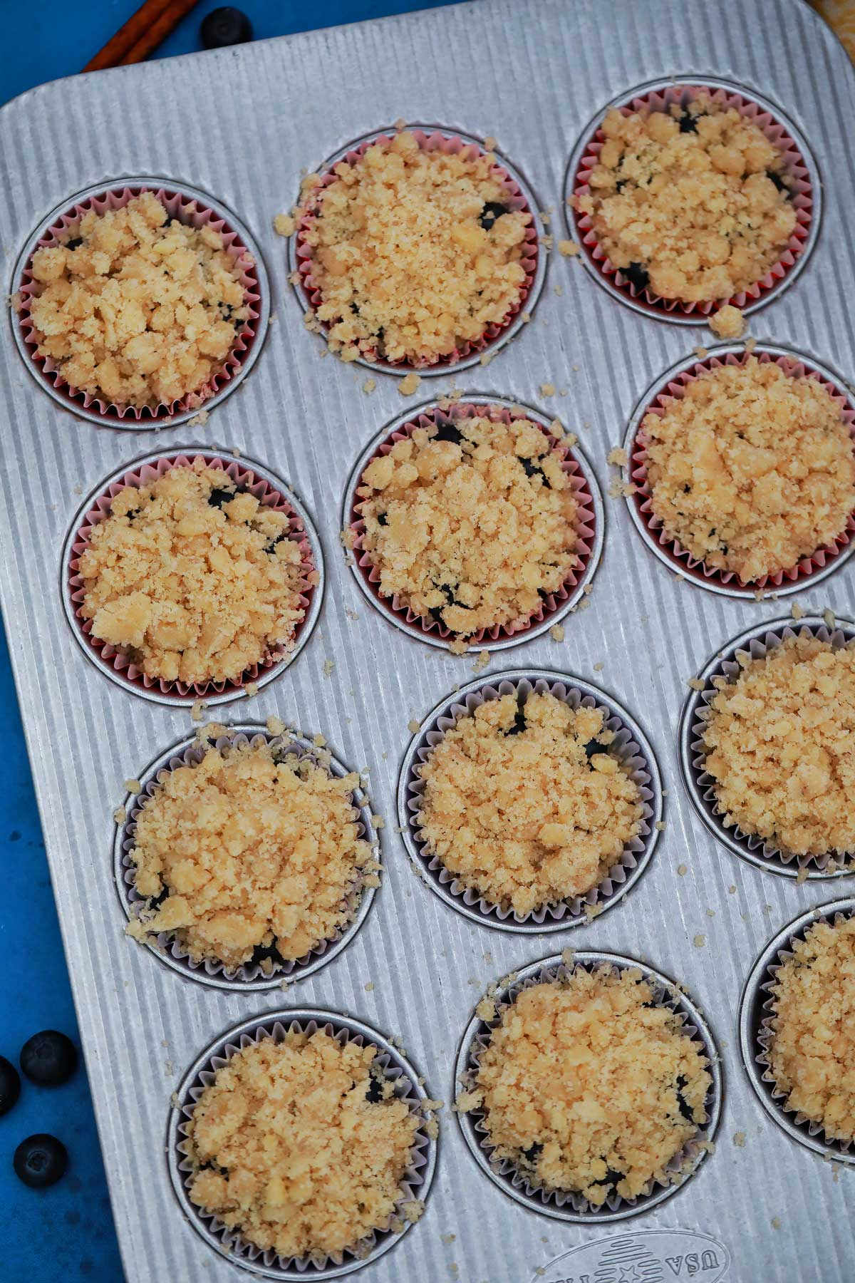 Muffins ready for oven