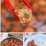 Bourbon chicken collage