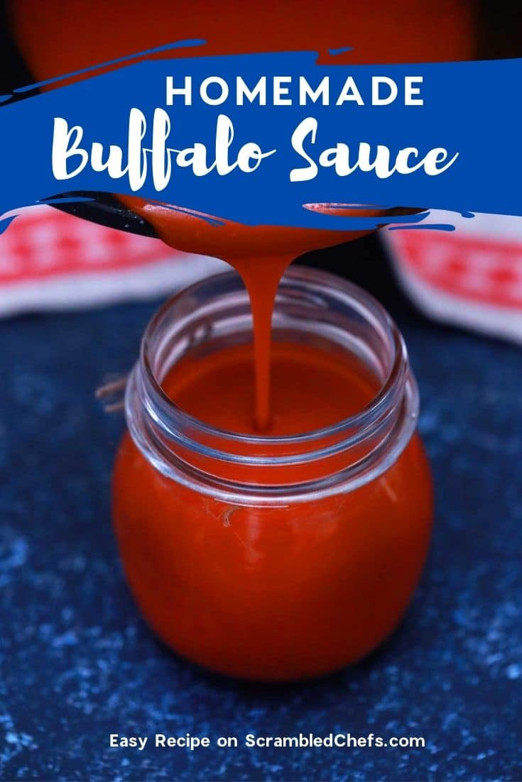 Pouring sauce from pan into jar