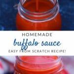 Homemade buffalo sauce collage