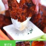 Buffalo chicken wings collage