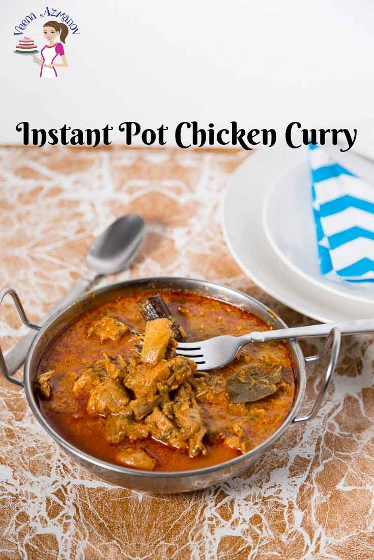 Curry in silver bowl