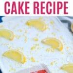 Cake pan with single slice of cake cut