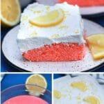 Pink lemonde cake collage