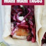 Taco showing mahi filet