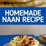 Naan bread collage