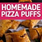 Pizza puffs collage