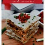 Stack of quesadilla slices