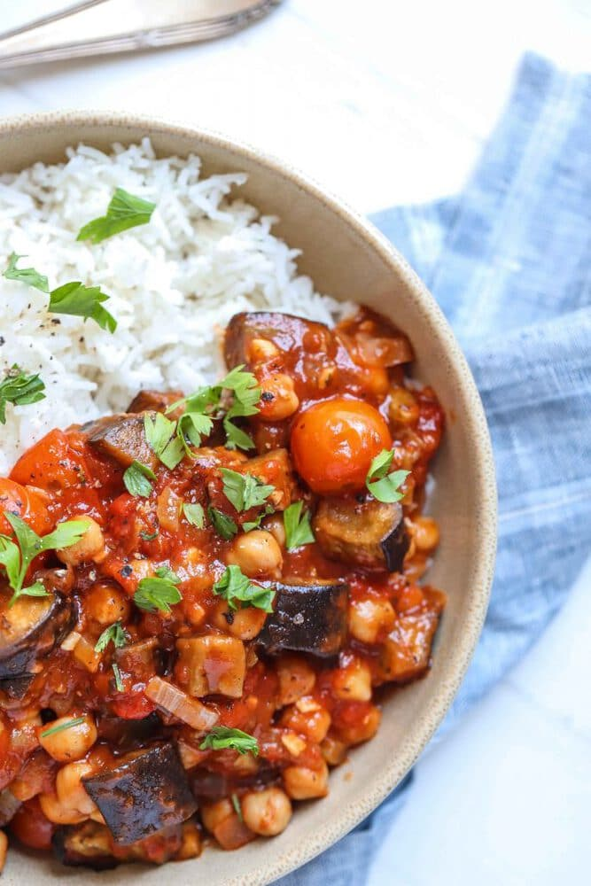 Tomato stew with rice