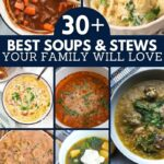 Soups and stews collage