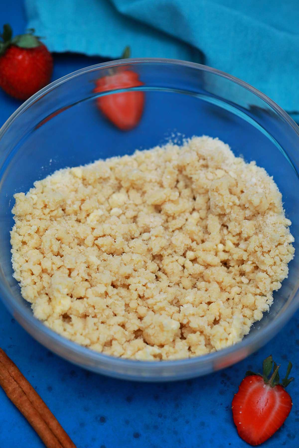 Dough for dessert bars crust
