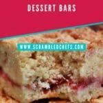 Strawberry bars closeup
