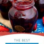 Three jars of jam on counter