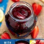 Strawberry jam collage