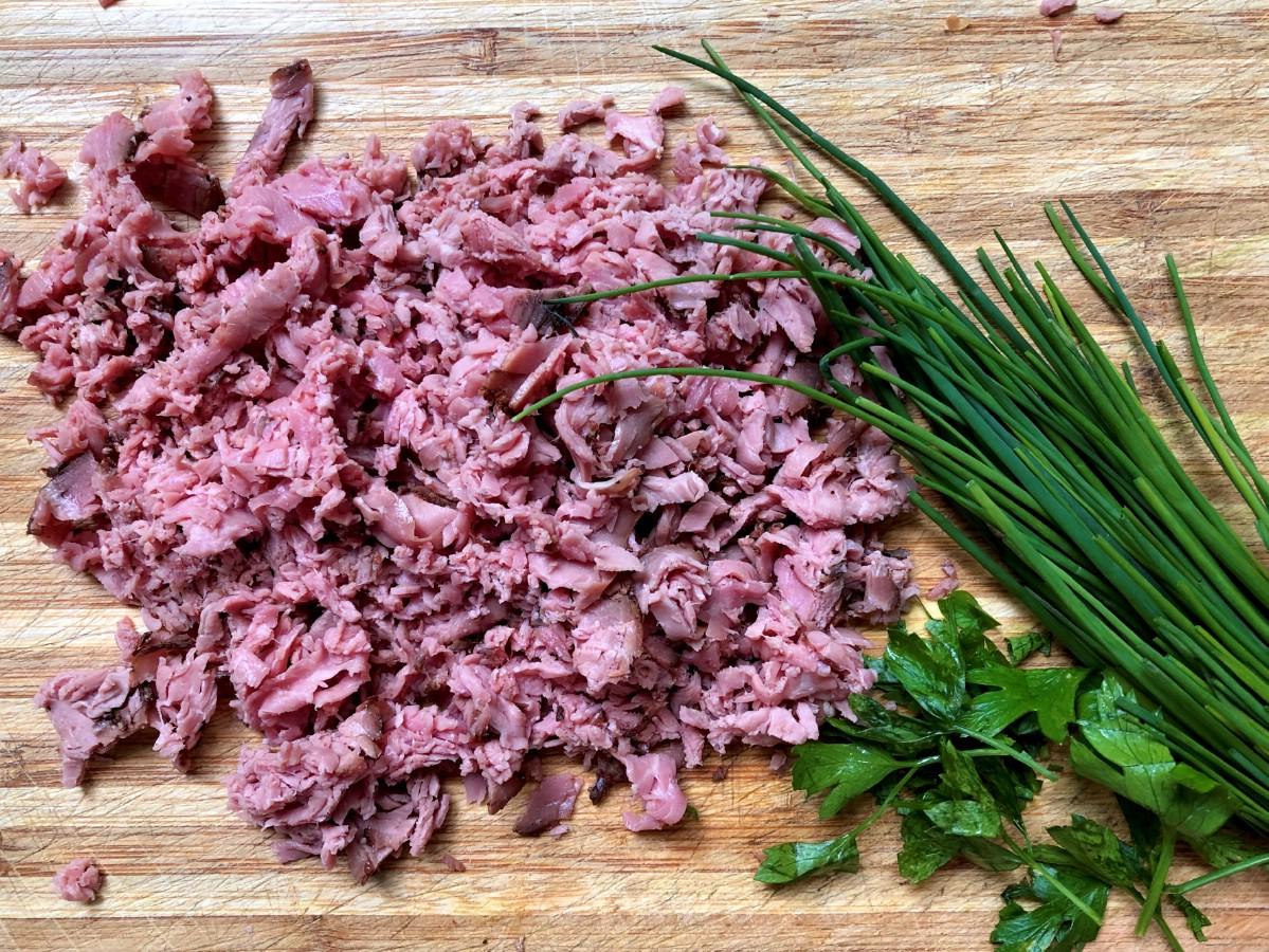 Beef on cutting board