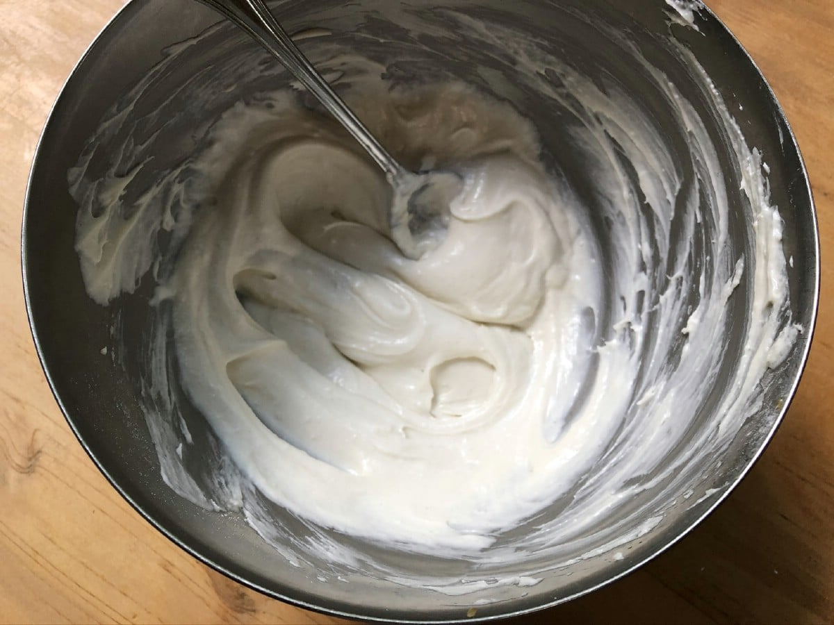Ingredients in stainless steel bowl