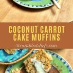 Coconut carrot cake collage
