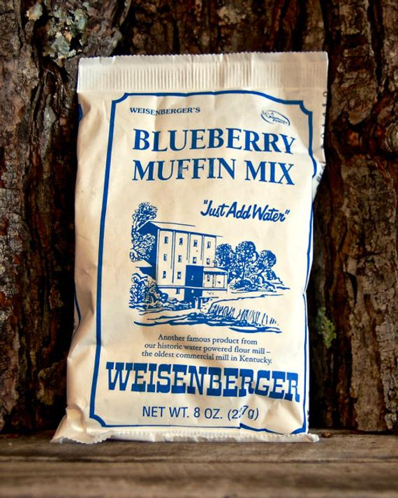 Weisenbergers Blueberry Muffin Mix | Etsy