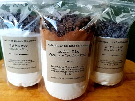 Muffin Mix Hand-Crafted Mixes Blueberry Muffins Cranberry | Etsy