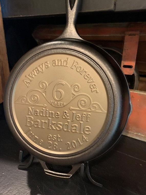 Custom/ personalized Cast Iron skillet | Etsy