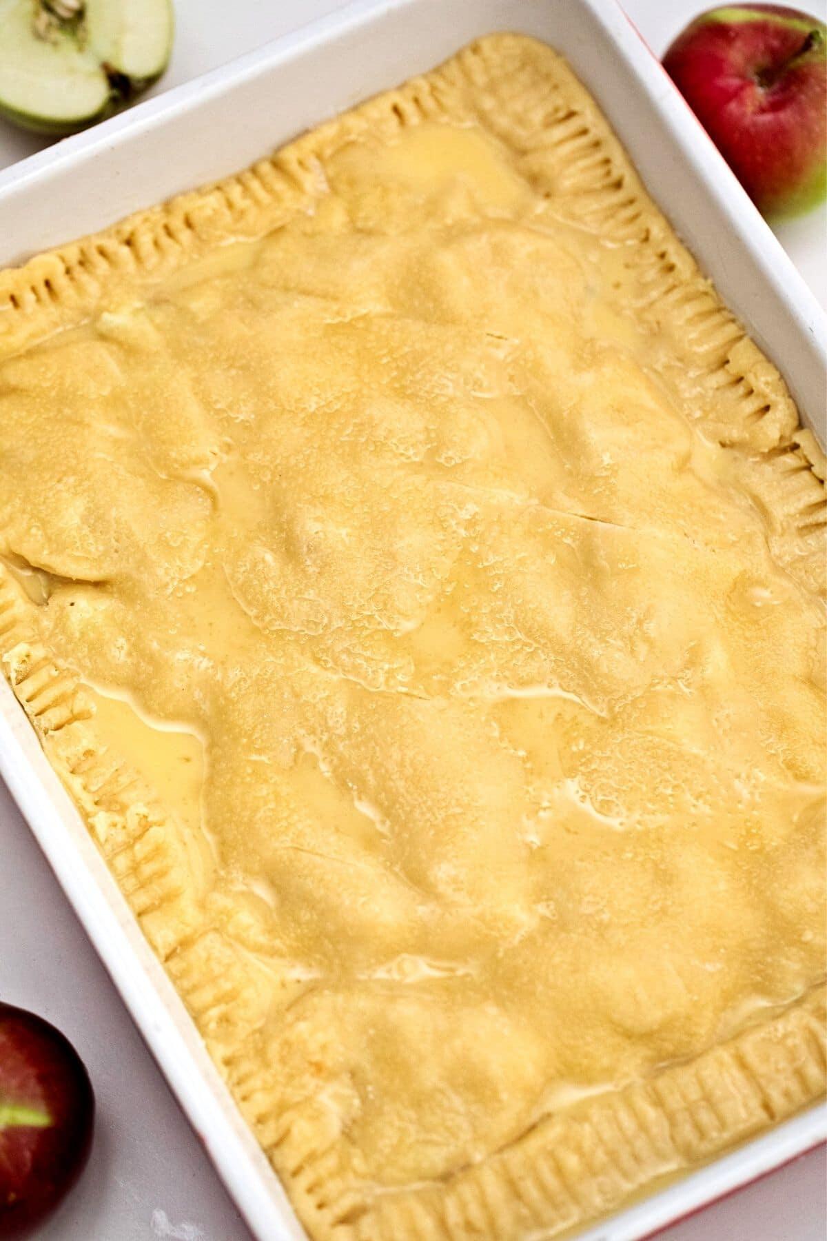 Crust in baking dish