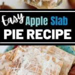Apple slab pie collage