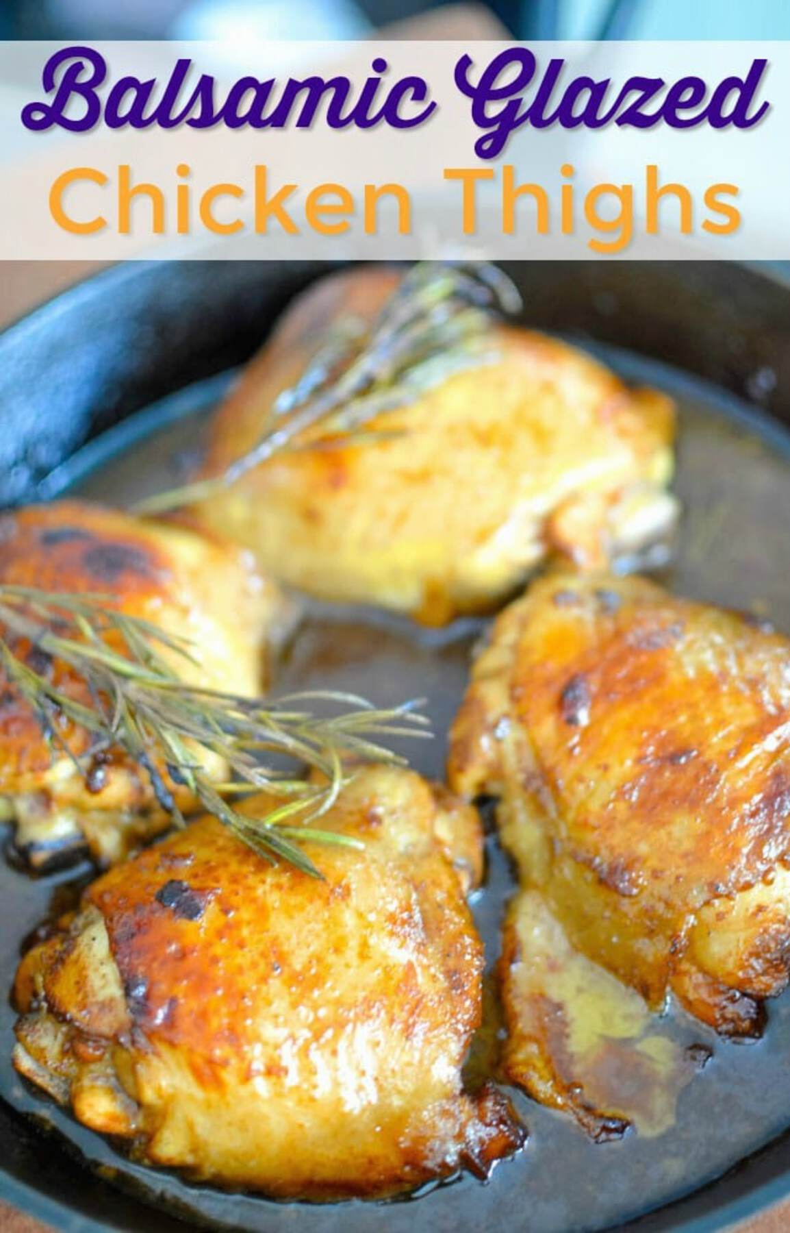 Chicken in skillet with rosemary