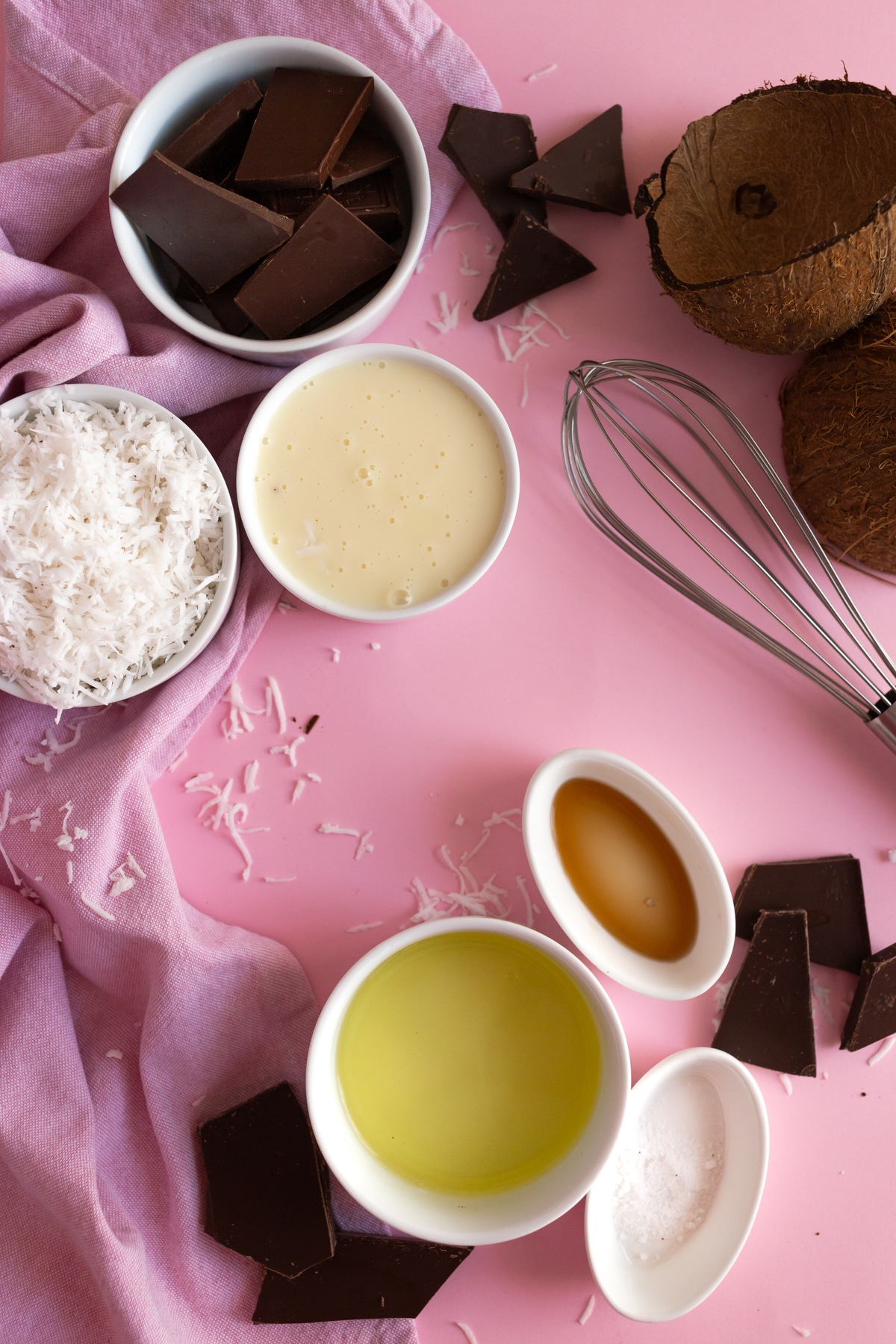 Ingredients for coconut macaroons