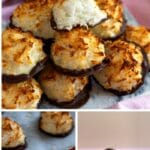 Coconut macaroon collage
