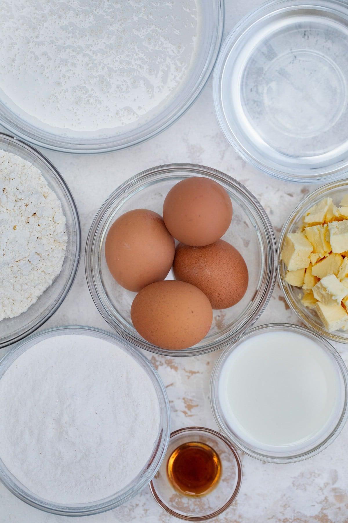 Cream puff ingredients