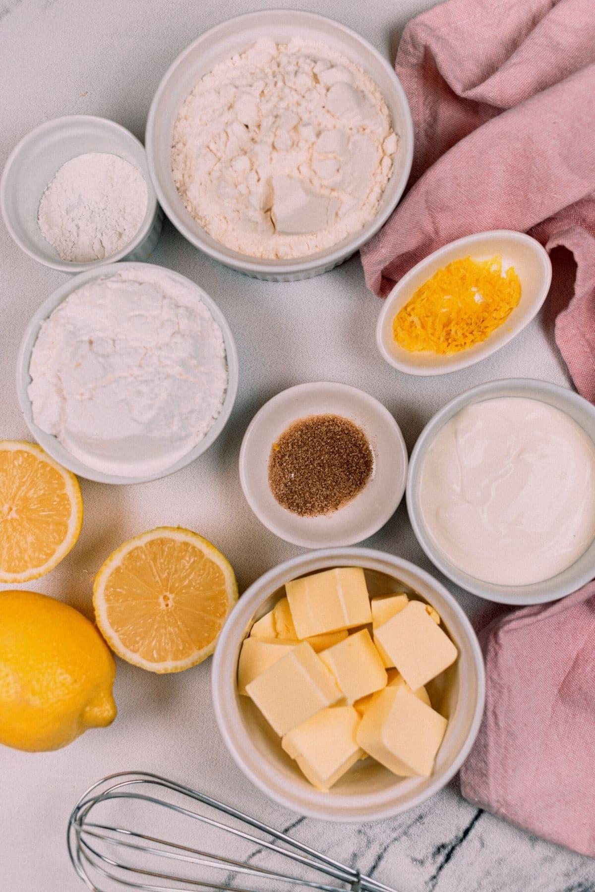 Lermon cookie ingredients