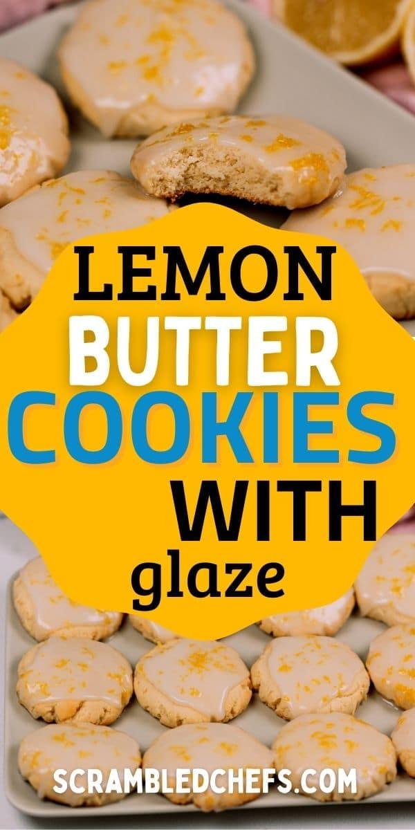 Lemon cookies collage