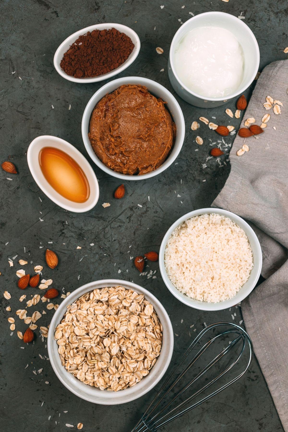 Oatmeal bars ingredients