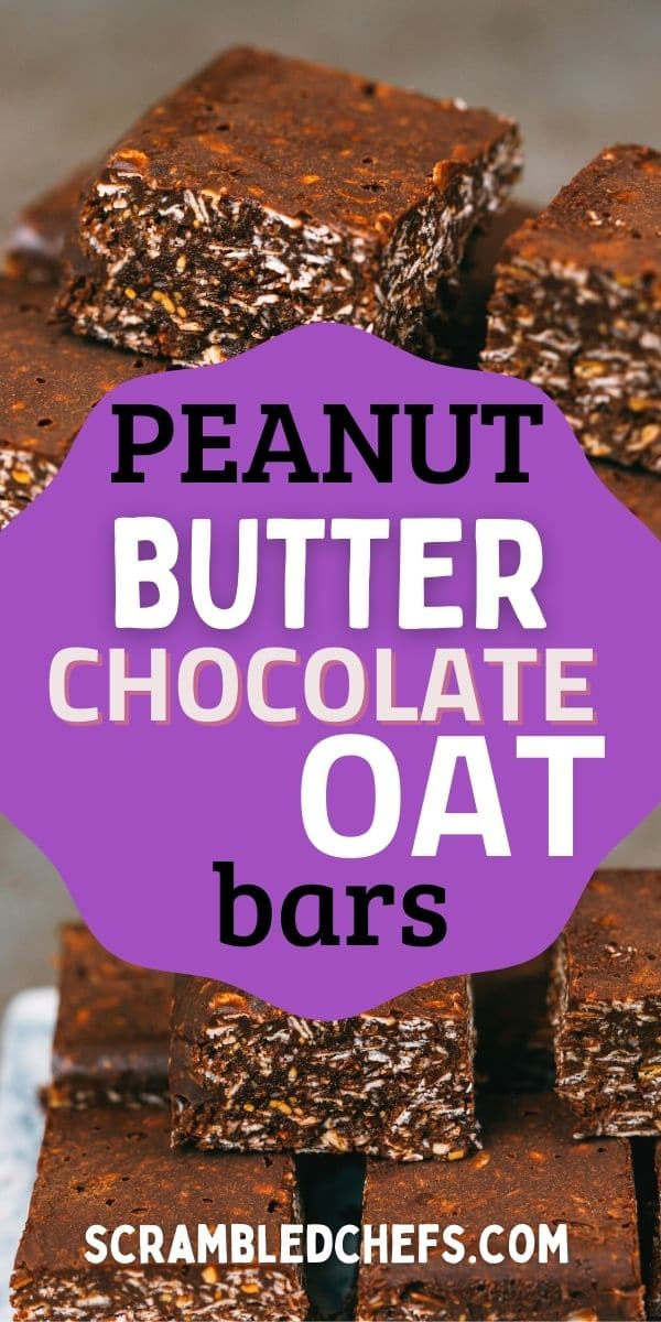 Peanut butter oatmeal bars collage