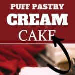 Puff pastry cake collage