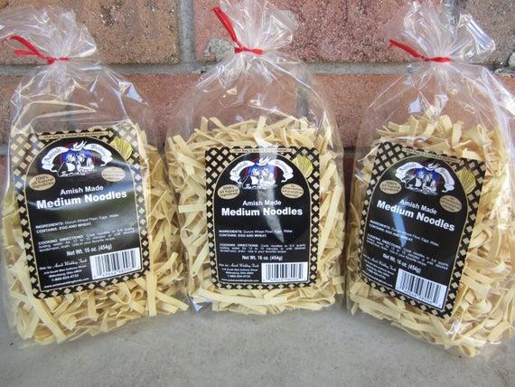 THREE Amish Wedding Foods Old Fashioned Medium Noodles 16 oz | Etsy