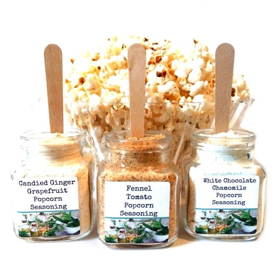 Botanical Garden Popcorn Bar Seasoning Set Gourmet Popcorn | Etsy