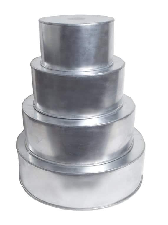 4 Tier Round Multilayer Birthday Wedding Anniversary Cake Tins | Etsy