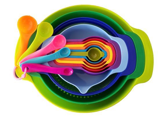 Mixing Bowl 10 pcs Set Bonus 5 pcs Measuring Spoon Set | Etsy
