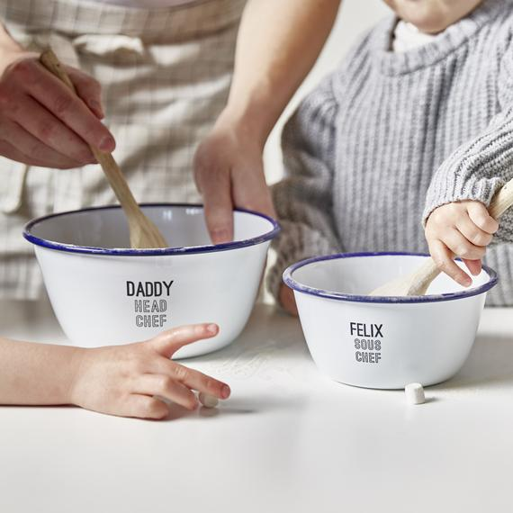 Personalised Daddy And Me Mixing Bowls | Etsy