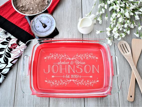 Personalized Casserole Dish Pyrex Baking Dish Engraved Name | Etsy