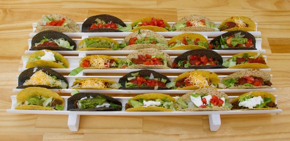 "20 TacoDock"" taco holder taco rack taco platter hot dog   Etsy"