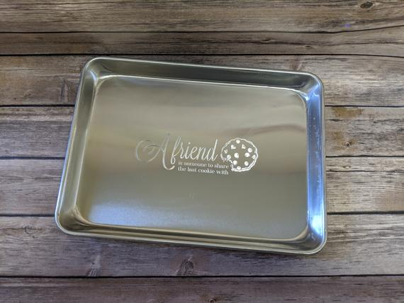 Personalized Cookie Sheet Small Engraved Aluminum Baking | Etsy