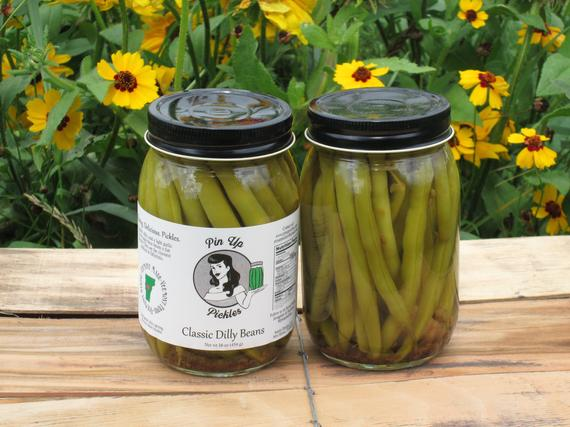 Classic Dilly Beans Pin Up Pickles | Etsy