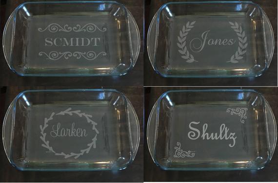 Personalized Engraved Baking Dish Custom Wedding Gift | Etsy