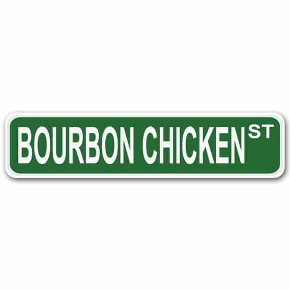 Bourbon Chicken Street 4 x 17 Aluminum Street Sign | Etsy