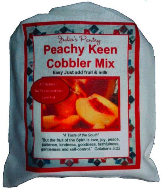 Southern Peach Cobbler Mix 9oz Cloth Quick and Easy Dessert   Etsy