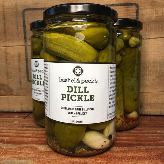 Whole Dill Pickles Plain or Spicy Two Jars | Etsy