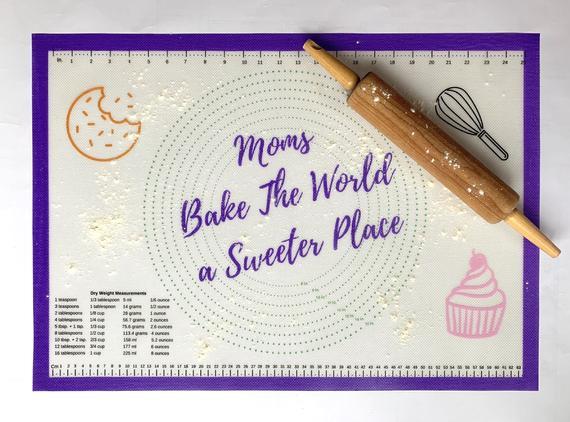 Mom's Favorite Nonslip Silicone Baking Mat   Etsy