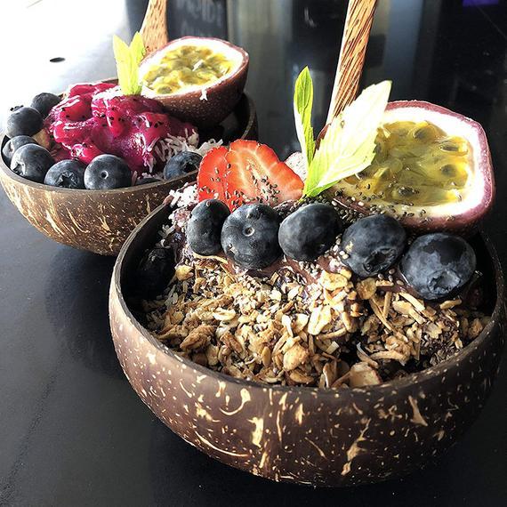 4 Organic Coconut Bowls4 Spoons & 4 Folks | Etsy